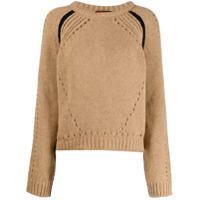 Colville Boxy Hole Detail Sweater - Marrom