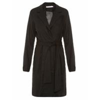 Lale Trench Coat Com Amarração - Preto