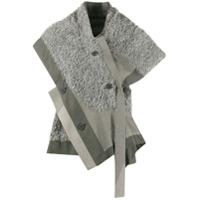 132 5. Issey Miyake Blusa Assimétrica - Cinza