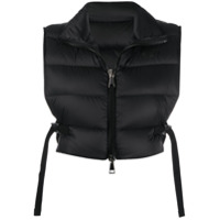 Moncler Padded Cropped Gilet - Preto