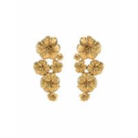 Aurelie Bidermann Par De Brincos Pansy Florais - Dourado