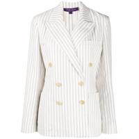 Ralph Lauren Collection Blazer Com Abotoamento Duplo E Listras - Branco