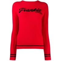 Frankie Morello Moletom Com Logo Bordado - Vermelho