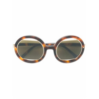 Marni Eyewear Óculos De Sol Oversized - Marrom