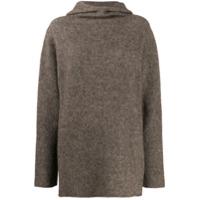 Suéter Com Capuz - Marrom