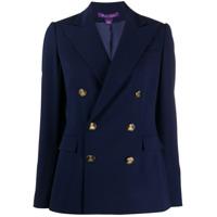 Ralph Lauren Collection Blazer De Alfaiataria Com Abotoamento Duplo - Azul
