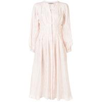 Three Graces Vestido Valeraine Com Abotoamento - Branco