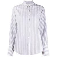 Nili Lotan Camisa Mangas Longas Com Estampa De Listras - Cinza