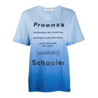 Proenza Schouler Camiseta Tie-Dye Dry Clean - Azul