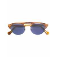 Moncler Eyewear Óculos De Sol Com Armação Arredondada - Marrom