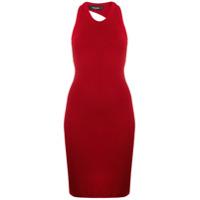 Dsquared2 Vestido Midi Slim De Tricô - Vermelho