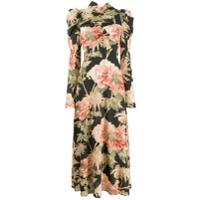 Zimmermann Vestido Longo Com Estampa Floral - Preto