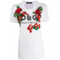 Dolce & Gabbana Camiseta Com Aplicação Floral - Branco