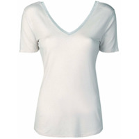 Majestic Filatures Camiseta Com Decote V Na Frente E Nas Costas - Rosa