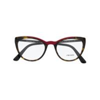Prada Eyewear Armação De Óculos Gatinho - Preto