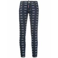Dsquared2 Calça Jeans Skinny Com Estampa De Logo - Azul