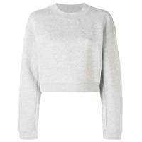 Alexander Wang Cropped Logo Sweatshirt - Cinza