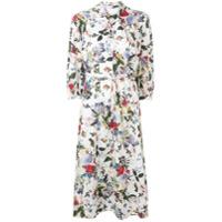 Erdem Vestido Adrienne Floral - Branco