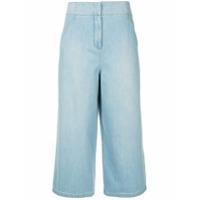 Tibi Calça Jeans Pantacourt - Azul