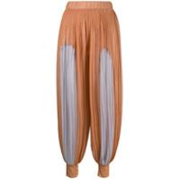 Atu Body Couture Pleated Harem Trousers - Laranja