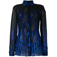 Just Cavalli Camisa Animal Print - Azul