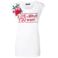 Dolce & Gabbana Camiseta Com Estampa Love - Branco