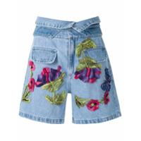 Patbo Shorts Com Bordado Em Relevo Frontal - Azul