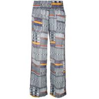 Lemlem Calça Pantalona Aztec - Estampado