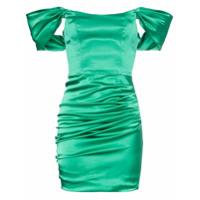 De La Vali Vestido Mini Com Franzido 'guadalupe' - Verde