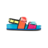 Kat Maconie Sandália Jean Color Block - Estampado