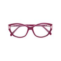Emilio Pucci Óculos De Grau Gatinho - Vermelho