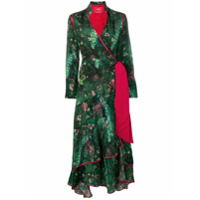 F.r.s For Restless Sleepers Vestido Kimono Estampado - Green