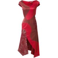 Martha Medeiros Vestido Assimétrico - Vermelho