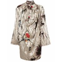 Vivienne Westwood Vestido Evasê Mangas Longas - Neutro