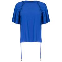 Corporeum Blusa Com Detalhe Entrelaçado - Azul