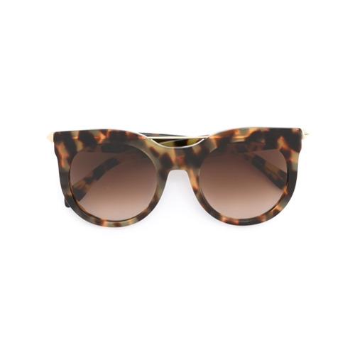 2af8e3d42ee41 Imagem de Alexander Mcqueen Eyewear Óculos de sol de armação redonda -  Marrom