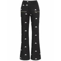 Charm's Calça Jeans Flare X Kappa Com Logo Bordado - Preto
