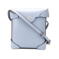 Manu Atelier Bolsa Transversal 'pristine' Mini De Couro - Azul
