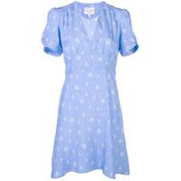 Hvn Vestido Decote V - Azul