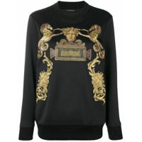 Versace Blusa De Moletom Com Logo - Preto