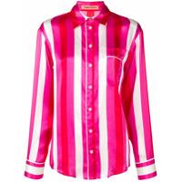 Maggie Marilyn Camisa De Seda Listrada - Rosa