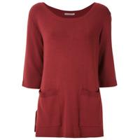 Alcaçuz Blusa Norma De Tricô - Vermelho