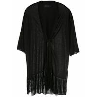 Alcaçuz Kimono Nice Com Franjas - Preto