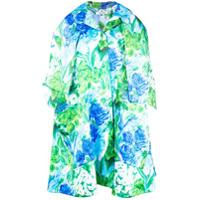 Richard Quinn Casaco Oversized Floral - Azul