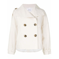 Enföld Short Double-Breasted Coat - Branco