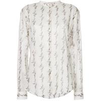 Saint Laurent Camisa Com Estampa Abstrata - Neutro