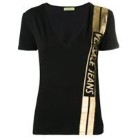 Versace Jeans Camiseta Com Logo - Preto
