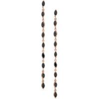 Maha Lozi Par De Brincos Drizzle De Ouro Rosê 18K - Black