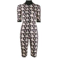 Atu Body Couture Animal Pattern Playsuit - Neutro