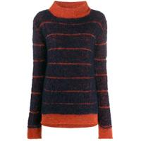 Eckhaus Latta Suéter Com Padronagem Listrada - Azul